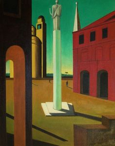 Italy's squares in Giorgio de Chirico's works - Italian Ways Paul Klee Art, Art Assignments, Image Painting, Surrealism Painting, Painter Artist, Futuristic Art, A Level Art, Italian Artist, Fantastic Art