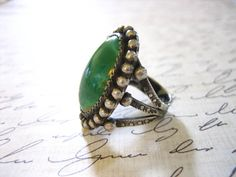 Vintage Old Pawn Large Sterling Silver Turquoise by charmingellie, $85.00