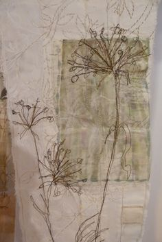 Linda Vincent: And there is more . Linda Vincent: And there is more …. Freehand Machine Embroidery, Free Motion Embroidery, Free Machine Embroidery, Embroidery Applique, Thread Art, Thread Painting, Cas Holmes, Creation Art, Creative Textiles