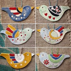 Only made six of these. They've just been listed in my shop (link in profile). #handmade #ceramic #birds #hangingdecoration #hmuk #homeaccessories #homedetails #homedecor #handglazed #colourandpattern #pottery Pottery Patterns, Ceramic Birds, Handmade Ceramic, Home Accessories, I Shop, Sewing Patterns, Kids Rugs, Profile, Link