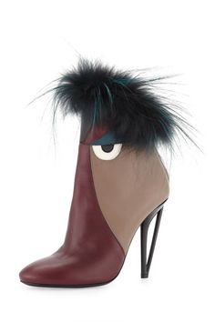 Art Statement Leather High-Heel Monster Bootie by Fendi Fall Booties, Fall Shoes, Bootie Boots, Ankle Booties, Rain Boots, Crazy Shoes, Me Too Shoes, Weird Shoes, Hot Shoes