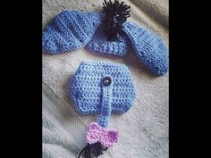 Tutorial on How to Crochet a Newborn Baby Eeyore Set. By Havoc Mayhem Creations - YouTube