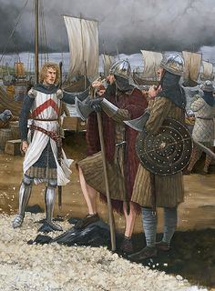 On 26 May 1315, Edward Bruce, younger brother of King Robert, landed on the Antrim coast at the head of some 6,000 men with the intention of driving out the English