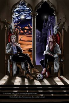 Clary and Sebastian on the thrones of Edom