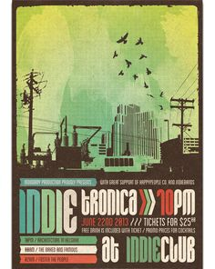 Indietronica Flyer/Poster by moodboy, via Behance