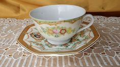 Mismatched Tea cup & Saucer, Mix & Match, Berkshire Ware, Avon Honor Society *et #shabbychic #various