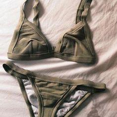Fashion sexy solid color bikini swimsuit