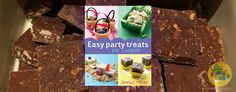 These brownies are great for parties as they can be made in advance giving you more time to focus on other preparations for the party. Basic Math, Party Treats, Yummy Treats, Brownies, Parties, Club, Chocolate, Baking, Holiday