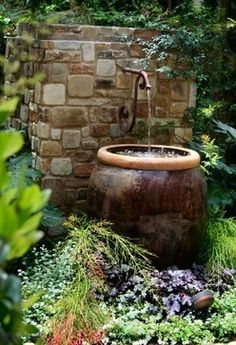 Fountain...in the garden | protractedgarden