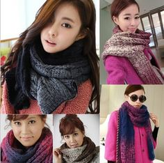 Latest Winter Wool Scarf For Girls 2015