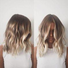 Blonde Balayage Highlights, Brown Hair With Blonde Highlights, Hair Color Balayage, Short Blonde Balayage Hair, Balayage Hairstyle, Chunky Highlights, Caramel Highlights, Bayalage, Dark Blonde