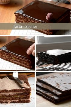 21 Mejores Imágenes De Pastel Sacher Sacher Tartas Y Postres