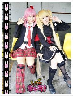 Shugo Chara- Cosplayers as Hinamori Amu and Hoshina Utau