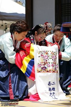 Korean traditional wedding - bow
