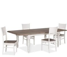 San Marino Large Dining Set With Wooden Side Chairs   Dining Set: X X San  Marino Rectangle Dining Table, Four X X Wooden Side Chairs.