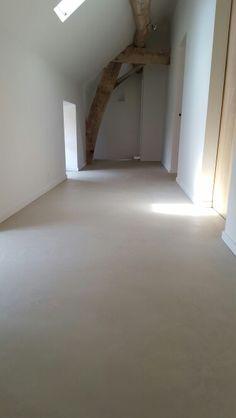 Hall - old farm renovation - micro cement