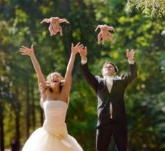 Talk about an awkward wedding photo...not sure what they were trying to say.