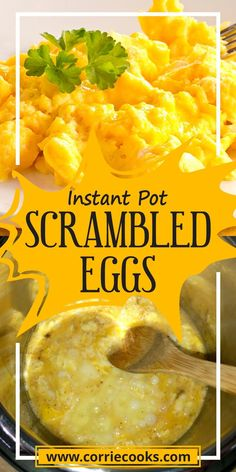 This is a very easy and tasty Instant Pot recipe which add protein to your diet and also give you a good feeling since you eat something healthy and not just sugar and fast food. This pressure cooker scrambled eggs recipe is made using the saute option only, so no need to wait the pot to create pressure. You can use mini pressure cooker for this recipe. Bhg Recipes, Easy Egg Recipes, Brunch Recipes, Breakfast Recipes, Family Recipes, Breakfast Ideas, New Pressure Cooker, Best Pressure Cooker Recipes, Instant Pot Pressure Cooker