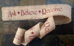 Primitive Christmas Jute Burlap Fabric Ribbon by PrimitivePics