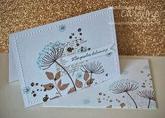 C@ro's kaartjes: Stampin Up Summer Sihouettes sympathy card - so pretty. Lovely vintage version in same post.