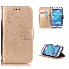 Leather Cases for SAMSUNG S4 I9500! Fashion Wallet Flip PU Leather Cases for GALAXY S4 I9500  Coque with logo window Accessories