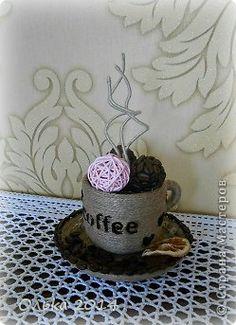 Поделка изделие Моделирование конструирование кофейные кружечки Кофе Шпагат фото 1