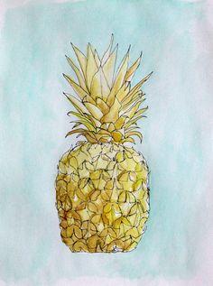 Golden Pineapple by Mary Jo Major