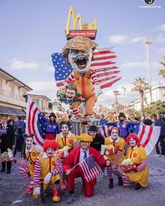 Carnival in Viareggio (Italy) has started. We are obsessed with Trump too