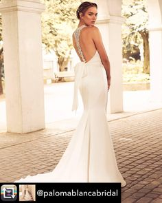 We are loving the beaded racerback details from Paloma Blanca in this dress! We just can't get enough of stunning back details. For brides…