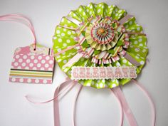 Celebrate gift wrap kit gift tag decoration pink and by paperwild