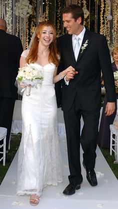 The Best Dressed Celebrity Brides of All Time - Alyson Hannigan  - from InStyle.com