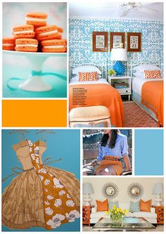 Design Inspiration: Blue and Orange!