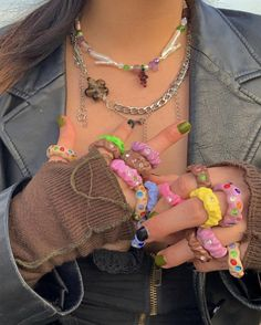 Funky Jewelry, Cute Jewelry, Jewelry Accessories, Fashion Accessories, Diy Clay Rings, Biscuit, Polymer Clay Ring, Estilo Indie, Accesorios Casual