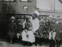 Baby farm. Berlin, Germany, 1923.