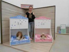 Camitas Dog Habitat, Custom Dog Beds, Dog Bedroom, Puppy Room, Diy Dog Crate, Dog Cages, Diy Dog Bed, Dog Rooms, Pet Furniture