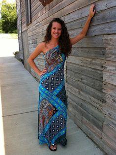 Cowgirl Clad Company - Blue Printed Maxi Dress, $72.00 (http://www.cowgirlclad.com/blue-printed-maxi-dress/)