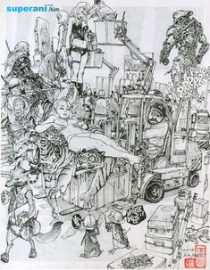 Magazine - Drawings by Kim Jung Gi