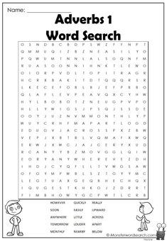 cool Adverbs 1 Word Search