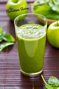 Slim Green Smoothie | Easy Way to Get Your Greens! | Only 64 Delicious Calories | For MORE RECIPES please SIGN UP for our FREE NEWSLETTER www.NutritionTwins.com
