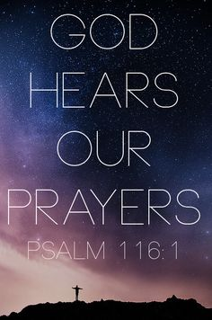 I love the LORD, for he heard my voice; he heard my cry for mercy. (Psalm 116:1)