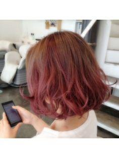スガタ SUGATAsasaki salon styles (べージュ×ピンク グラデーション)