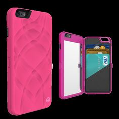 iFrogz Charisma Wallet Mirror Case for iPhone 6 Hot Pink