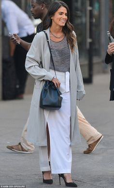 The lady is a vamp: Nikki Reed looked great when she stepped out in New York on Wednesday...