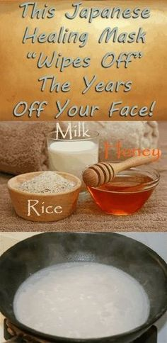 """Japanese Healing Mask """"Wipes Off"""" The Years Off Your Face! Healthy Drinks, Healthy Tips, Healthy Weight, Home Beauty Tips, Beauty Hacks, Health Tips For Women, Health Advice, Health Care, Homemade Face Masks"""