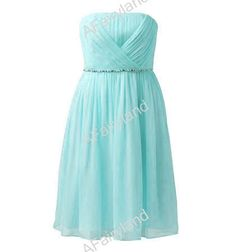 Baby blue chiffon bridesmaid dress party dress with by AFairyland, $78.00