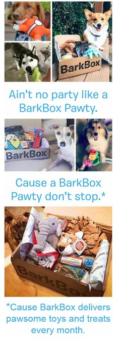 "Pinner Special: Get a free upgrade for an extra premium toy every month (up to $108 value) when you start a 3, 6 or 12 month BarkBox plan by 3/31. Must use this link to redeem: discount auto-applies when you select ""yes, please!"" for Pupgrade at checkout. BarkBox delivers a box of innovative toys and all-natural treats with a new surprise theme every month, so you can spend more time on important things (like belly scratches and fetch)."