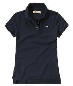 Hollister Women's Polo Shirt Small Navy. I love hollister polos