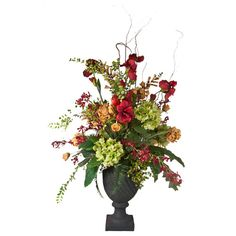 Faux Mixed Garden Entry Arrangement #centerpieces