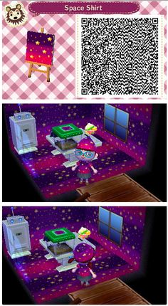 Space/Star pattern for animal crossing new leaf (acne).  Looks best rotated when used as a wallpaper or floor UwU