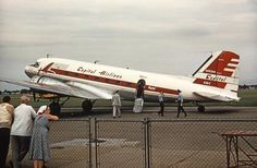 Chicago Midway Airport - Capital Airlines DC-3 - 1953 Photo by Pat B